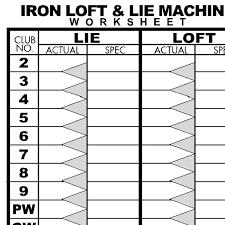loft and lie machine. iron loft \u0026 lie machine worksheet and
