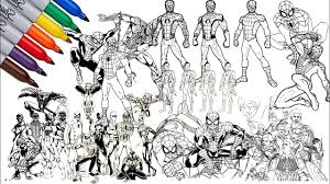 Print spiderman coloring pages for free and color our spiderman coloring! Spider Man And The Avengers All Spider Man Coloring Pages Ho To Draw Spider Man Youtube