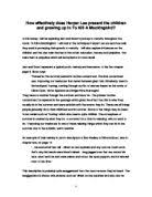 english essay on to kill a mockingbird gcse english marked  related gcse harper lee essays