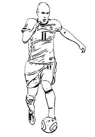 Arjen Robben Kleurplaat Grandes Jugadores Del Fútbol Voetbal