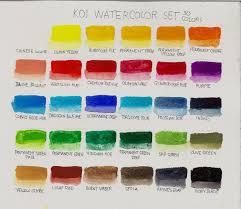 Sakura Poster Color Chart Life Imitates Doodles 30 Color Koi Watercolor Pocket Field