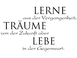Wandtattoo Spruch Lerne Aus Der Vergangenheit Klebeheldde
