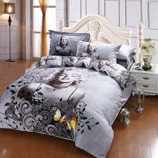 queen size comforter sets marilyn monroe erfly oil painting bed duvet cover flat sheet 4