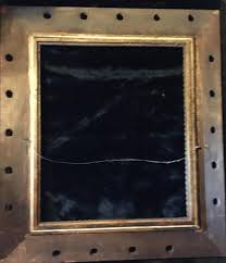 antique 1825 1850 large ornate wood gesso frame 30 x 34 inches 1803157015