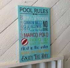 Swimming Pool Decor Signs Pool Rules Pallet Sign Swimming Pool Sign Marco Polo Sign Lanai 100