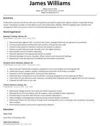 Truck Driver Resume Sample Resumelift Intended For Resume Sample