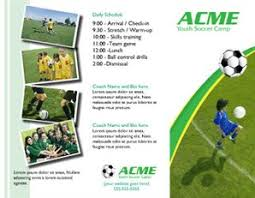 soccer team brochure template free brochures for sports fitness creative center