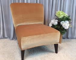 slipcover gold velvet chair cover for armless chair slipper chair accent chair parsons chair teal plum brown gray beige cranberry