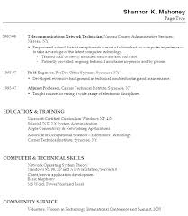 Example Resume Work Experience Section Resume Template For Teacher