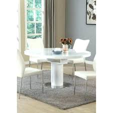 luxurious white extending dining table high gloss be fabulous round