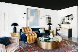 black ceiling in chic white living room black lacquer design