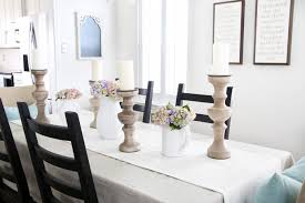 dining room table decor for spring. home- spring dining room, decor, table, tablescape, centerpiece, room table decor for e
