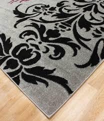 gray damask area rug