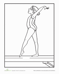 Free coloring pages gymnastics from floor to gymnastics. Gymnastics Worksheet Education Com