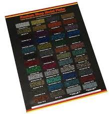 Hok Paint Color Chart Custom Shop Metal Flake Chip Color Chart Auto Car Paint Gun