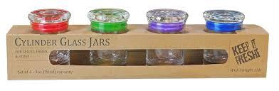 4 pack 3oz 90ml glass jar glass lid assortment seal