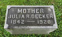 Julia Rosanna Fausel Decker (1842-1920) - Find A Grave Memorial