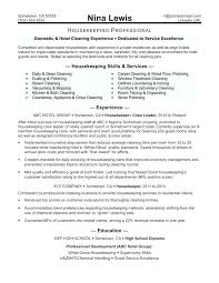Housekeeping Resume Examples Classy Hospital Housekeeping Resume Sample Hotel Housekeeping Resume Sample