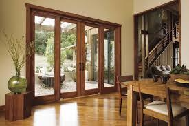 sliding patio door exterior. Dining Room With Hardwood Floors And A Wood Sliding Patio Door Exterior O