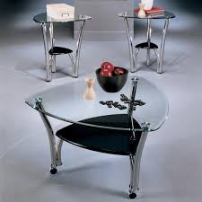 3 piece brushed chrome coffee table set see here part 2