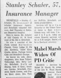 Stanley Schafer, Obituary, Akron Beacon Journal, Feb 22 1974 ...