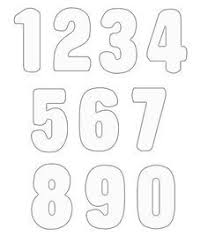 number templates 1 10 image result for number templates 1 10 pre school pinterest