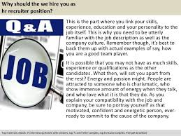 interview for hr position questions and answers hr recruiter interview questions