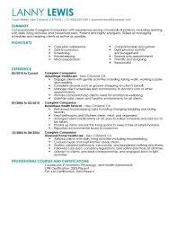 Caregiver Skills Resume Free Download Resume Examples For Caregivers