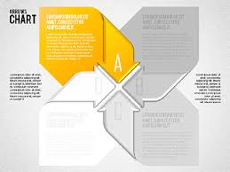 Pinwheel Style Process Shapes Presentation Template For