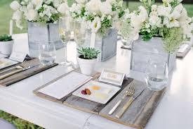 Modern White Rustic Wedding Table Decor