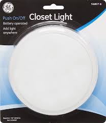 ge battery operated push on off round closet light 54807 tap lights com