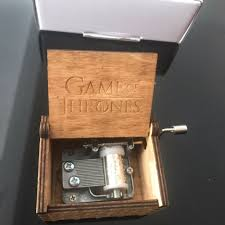 Engraved Wooden Music Box Game Of Thrones Hand Crank Game of Thrones Engraved Wooden Box My Crazy WishList 97