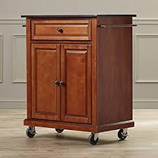 Amazoncom Kitchen Island Cart on Wheels with Granite Top Rolling