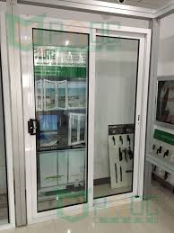 fabulous white aluminium clear glass double patio sliding doors