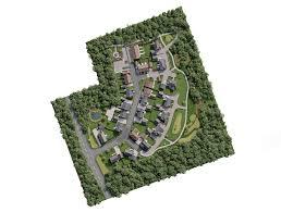 white crow studios spitfire homes banbury lane aerial cgi