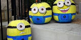 Painted Minion Pumpkins Deck Your Home With These Hassle Free No Carve Minions Pumpkins