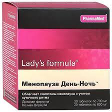 <b>Lady's formula</b> PharmaMed <b>менопауза день</b>-<b>ночь</b> таблетки 30 шт ...