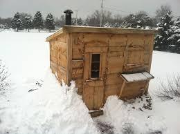 picture of wood burning sauna diy