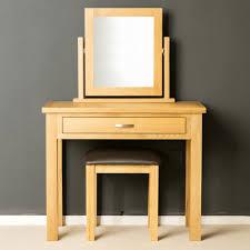 london oak dressing table set light oak with stool mirror solid wood