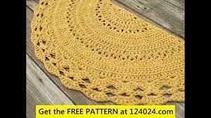 crochet rug tutorial 1