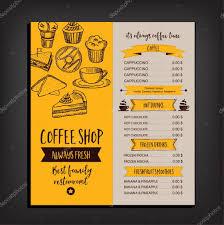 Cafe Menu Template Restaurant Cafe Menu Template Design Stock Vector