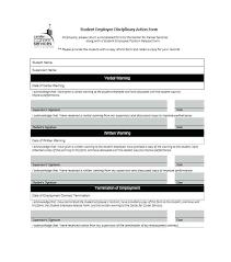 employee discipline template printable disciplinary action form employee discipline template word