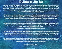 Sample Love Letter To My Son | The Best Letter Sample Throughout ...