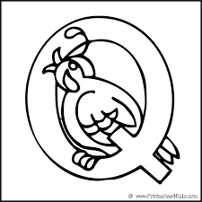 Small Picture Alphabet Coloring Page Letter Q Quail Printables for Kids free