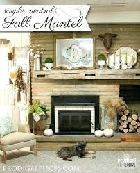 simple mantle decor decorating a mantle mantle decor a simple fall mantel display in neutral tones