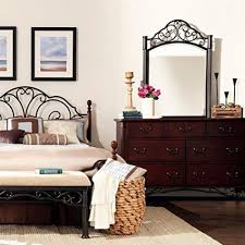 iron bedroom furniture. Buy Queen Antique Style Metal Bed Frame Cherry Dark Bronze Finish Vintage Canopy Princess Wrougt Iron Bedroom Furniture Great With Shear Curtains Or
