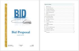 sample bid proposal template bid proposal template blue layouts