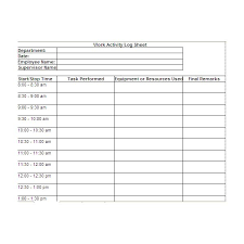 log sheet free printable work log sheets download and modify for your own