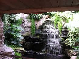... Inspiring Furniture For Interior Decoration With Indoor Waterfalls :  Daring Image Of Modern Natural Indoor Garden ...