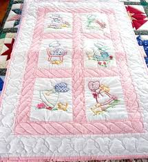 Baby Blanket Embroidery Blanks Baby Quilts To Embroider Machine ... & ... Baby Blanket Embroidery Blanks Hand Embroidered Baby Quilt Patterns  Handmade Amish Baby Quilt Embroidered Sun Bonnet ... Adamdwight.com